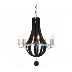 Adams Pendant Light Vase Black