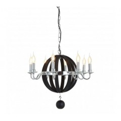 Adams Pendant Light Round Black