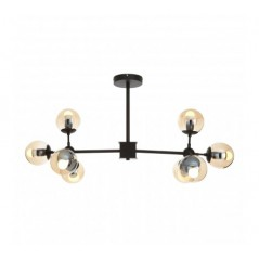 Abira 8 Bulb Pendant Light Black