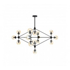 Abira 15 Bulb Pendant Light Black
