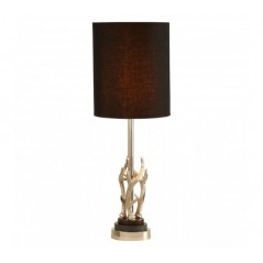 Antler Table Lamp Black