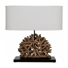 Hestina Table Lamp Twig Brown