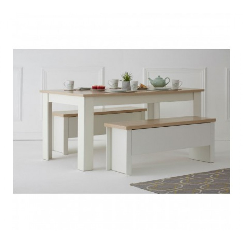 St. Ives Dining Set Large White