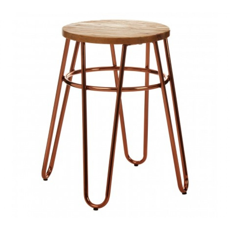 District Stool Brown