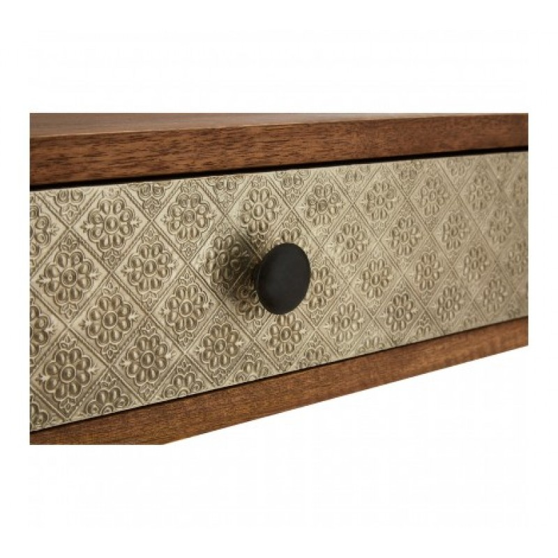 Boho Console Table Cylindrical Natural