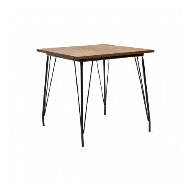 District Dining Table Square Black