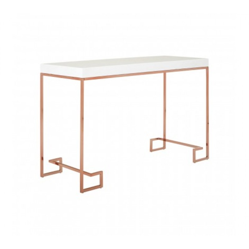 Allure Console Table Cubic Rectangular Rose Gold