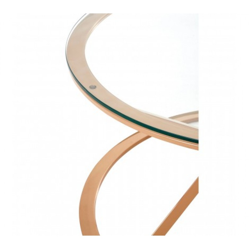 Allure Coffee Table Geometry Round Rose Gold