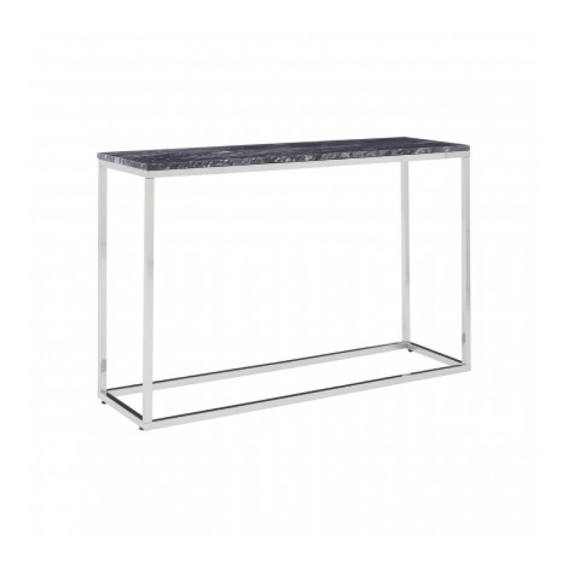 Allure Console Table Marble Rectangular Silver