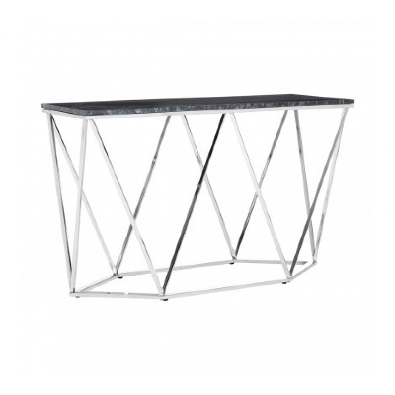 Allure Console Table Geometry W Rectangular Silver