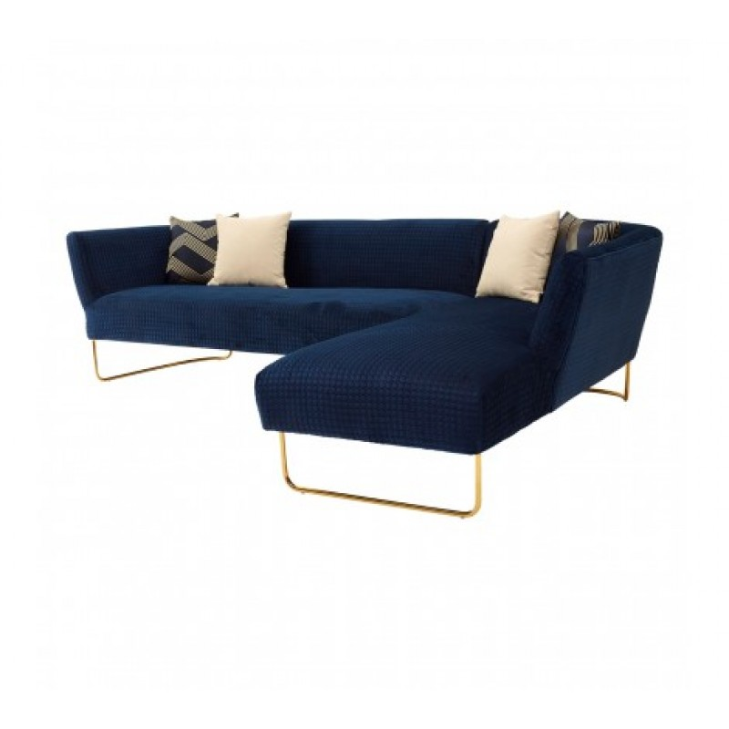 Renee Corner Sofa Blue