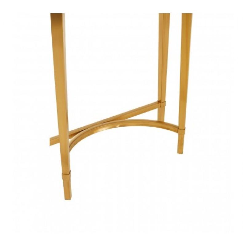 Alvaro Console Table Semi-Circular Gold