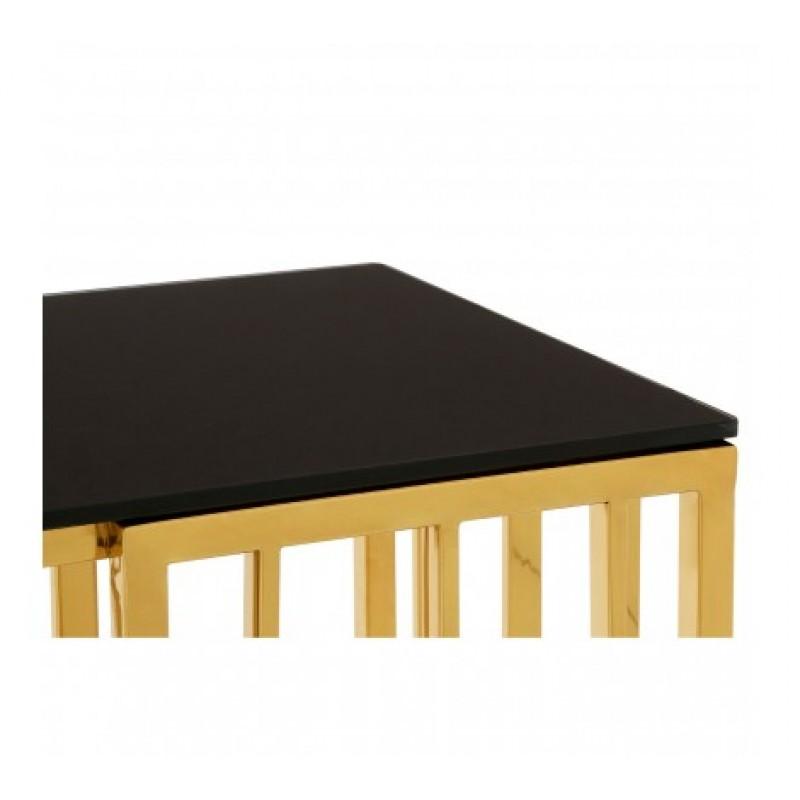 Alvaro Console Table Kinked Black