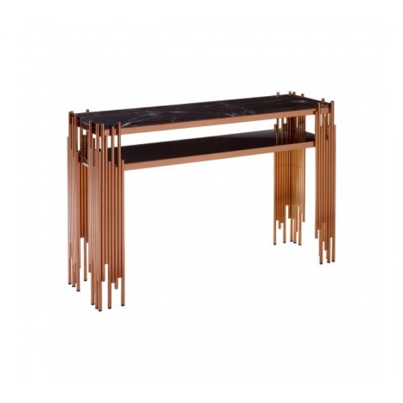 Alvaro Console Table Stick Rose Gold