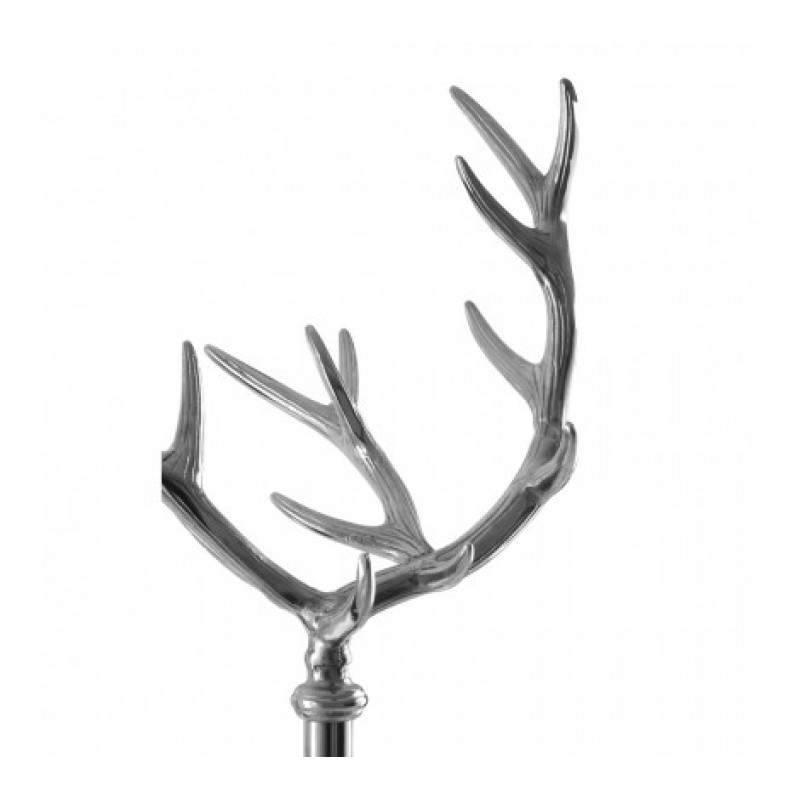 Antler Coat Stand Silver