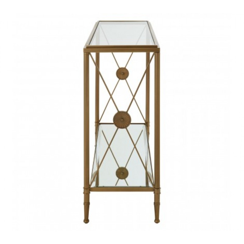 Axis Console Table Brass