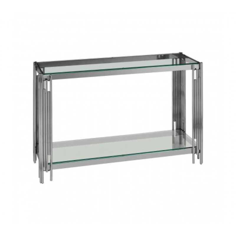 Alvaro Console Table Stick Silver