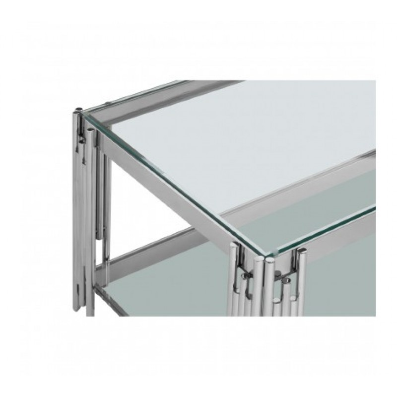 Alvaro Coffee Table Stick Silver