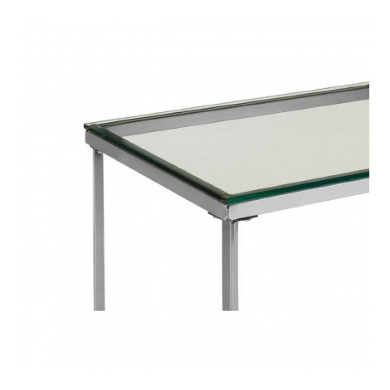Allure Console Table Cross Base Silver