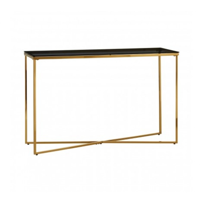 Allure Console Table Cross Base Gold