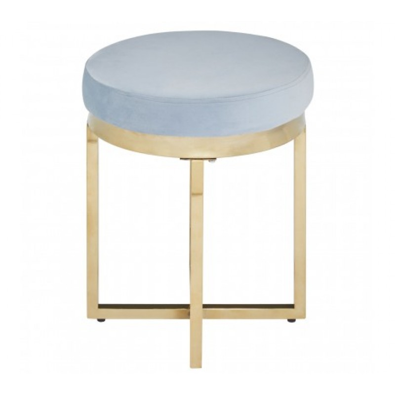 Allure Stool Round Blue Gold