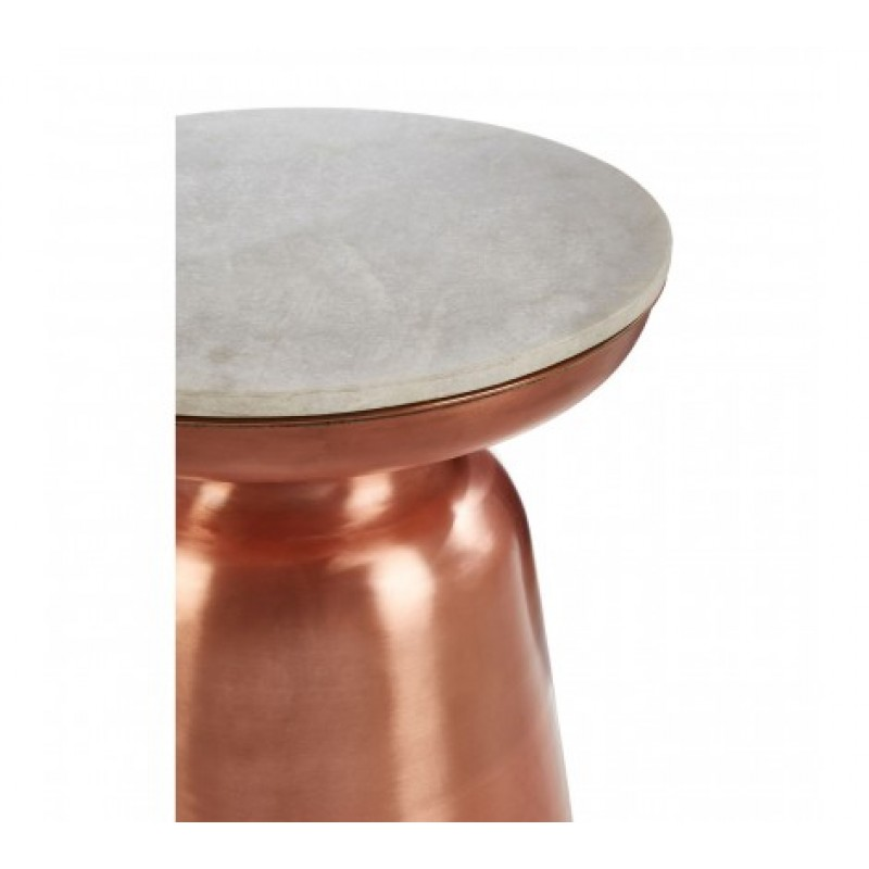 Agra Side Table Copper