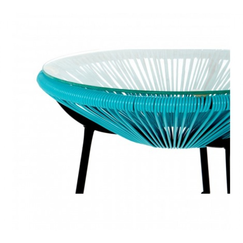 Miami Chairs and Table Set Cyan
