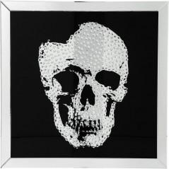 Picture Frame Mirror Skull 100x100cm