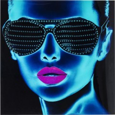 Picture Glass Tough Girl 120x120cm