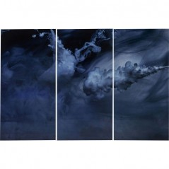 Picture Glass Triptychon Clouds 160x240cm (3/Set)