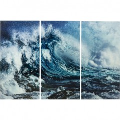 Picture Glass Triptychon Wave 160x240cm (3/Set)