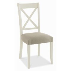BD Randel Soft Grey And Oak Upholstered Chair