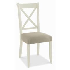 BD Randel Soft Grey And Oak Upholstered Chair