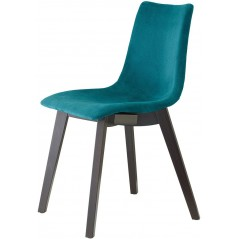 SC Natural Zebra Pop chair Italy with wengé beech frame Peacock Green