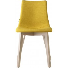 SC Natural Zebra Pop chair with natural beech frame - Mustard Yellow