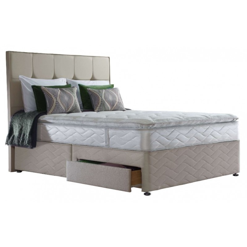 Sealy 3ft Pearl Luxury 2 Drawer Bed
