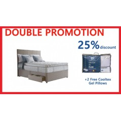 Sealy 5ft Guernsey 4 Drawer Bed + **2 FREE SEALY COOLTEX GEL PILLOWS WORTH €130.00**