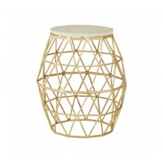 Moore Side Table Polygonal Gold