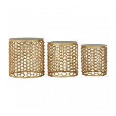 Moore Side Table Chain-Link Gold