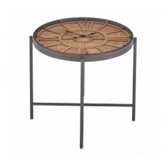 Trinity Side Table Clock Natural