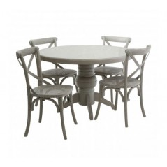 Vermont Dining Set 5Pc Grey