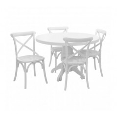 Vermont Dining Set 5Pc White