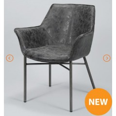 ZI Industrial Wing Dining Chair Black