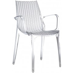 SC Tricot Italy Arm-Chair Clear Transparent