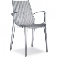 SC Tricot Italy Arm-Chair Smoked Grey