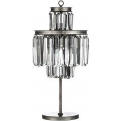 Art Deco Table Lamp Iron/Crystal