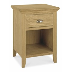 BD-Rutland Oak 1 Drawer Nightstand