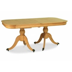 BD-Edwardian Oak 6-8 Extension Dining Table