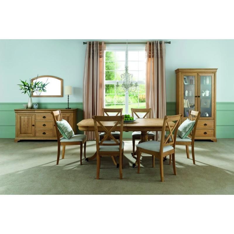 BD-Edwardian Oak 6-8 Extension Dining Table