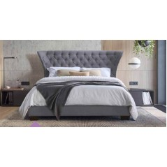 FP Geo 4'6 Grey Bed Retro